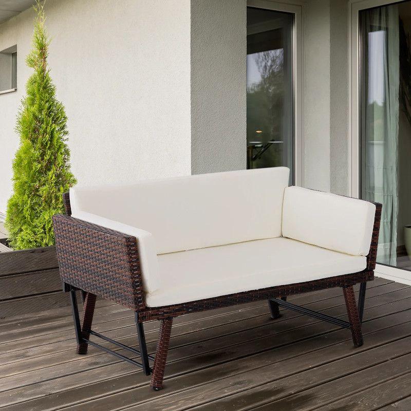 Canapea de Gradina 2Locuri Transformabil in Sezlong