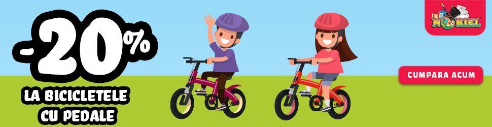 Dam startul unei aventuri pe biciclete la Noriel.